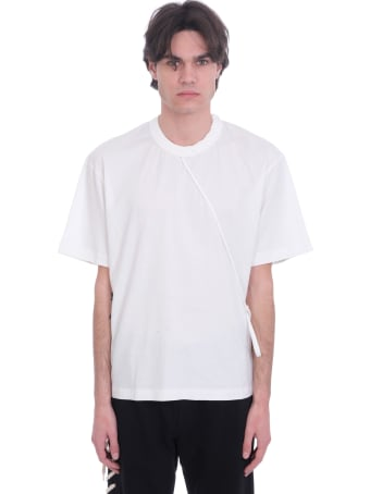 Craig Green Laced  T-shirt In White Cotton