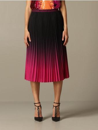 Armani Collezioni Armani Exchange Skirt Armani Exchange Pleated And Shaded Skirt
