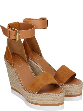 See by Chloé Wedges In Leather Color Suede