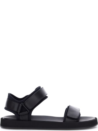 The Row Hook And Loop Flat Sandals