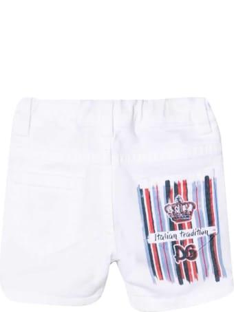 Dolce & Gabbana White Denim Shorts