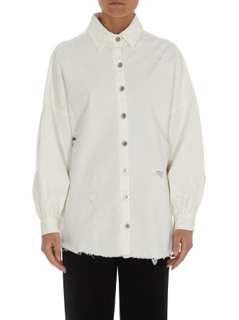 aniye by Back Logo Denim Shirt