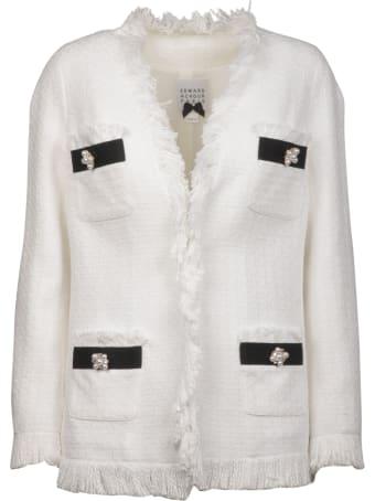 Edward Achour Paris Tweed Jacket With Fringes