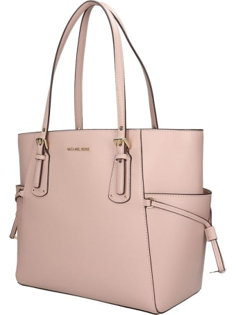 Michael Kors Tote In Rose-pink Leather