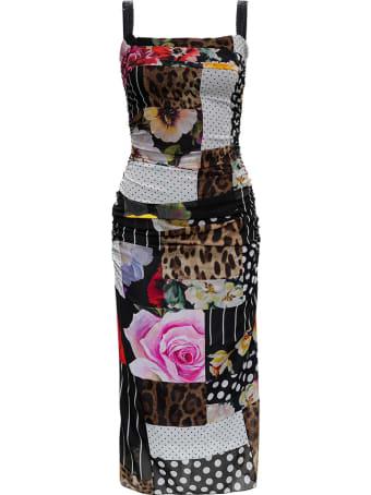 Dolce & Gabbana Multicolor Patchwork Dress