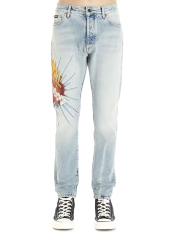 Palm Angels 'scared Heart' Jeans
