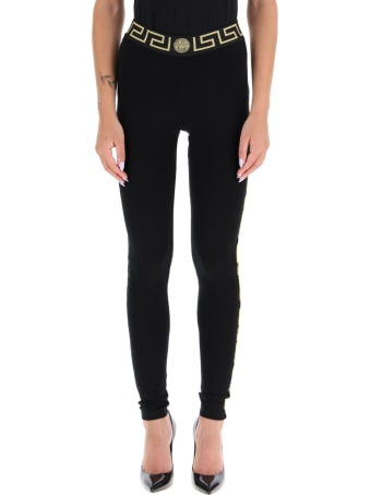 Versace Leggings With Greca Motif