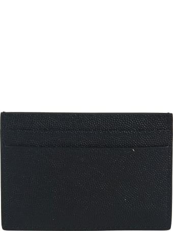 Saint Laurent Logo Plaque Grained Card Holder