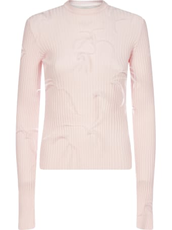 Marques'Almeida Feather-embellished Viscose-knit Sweater