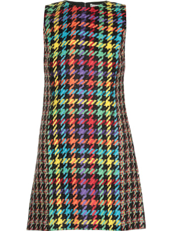 Alice + Olivia Multicolor Houndstooth Dress