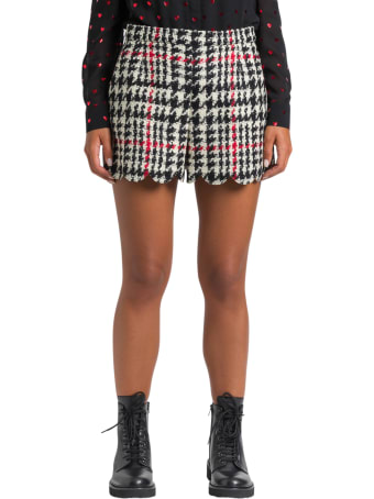 RED Valentino Checked Tweed Shorts