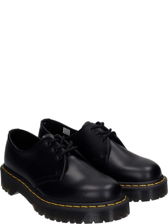 Dr. Martens 1461 Bex Lace Up Shoes In Black Leather