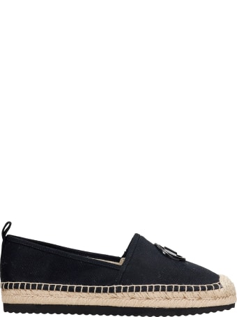 Michael Kors Lenny Espadrilles In Black Canvas