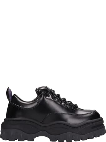 Eytys Angel Black Leather Sneakers