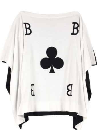Boutique Moschino Knitted Wool Blend Cape
