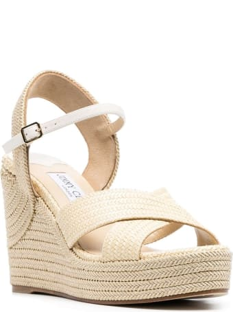 Jimmy Choo Dellena Beige Rope Wedges