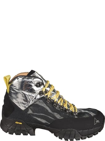 ROA Metallic Detail Hi-top Sneakers
