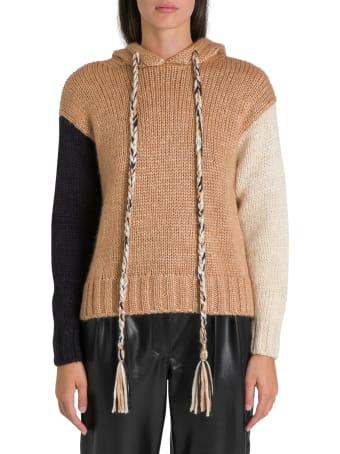 Alanui Oversized Cropped Hoodie Sweater