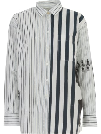 Paul Smith Shirt L/s Cotton W/patch And Stripes