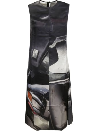 Peter Do Printed Creased Apron Dress