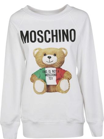 Moschino Bear Logo Printed Sweatshirt