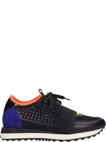 Lola Cruz Sneakers In Black Tech/synthetic