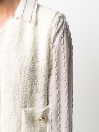 Pinko Tweed Vest With Fringes