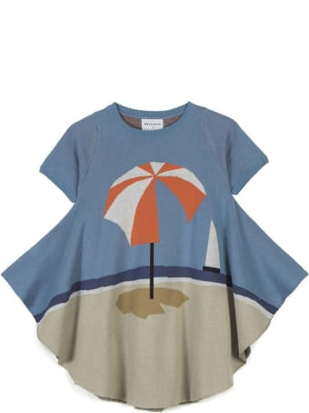 Wolf & Rita Green Maxi T-shirt For Girl