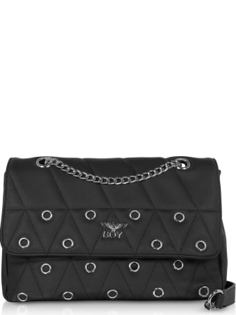 Boy London Black Synthetic W/grommets Leather Shoulder Bag