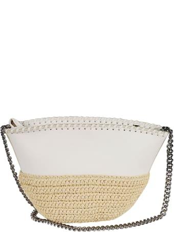 Stella McCartney Stitch Detail Top Zip Chain Shoulder Bag