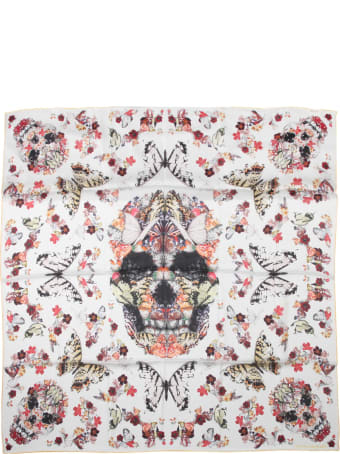 Alexander McQueen Scarf With Botanical Paisley Print