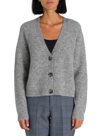Ganni Soft Wool Knit Cardigan Cropped