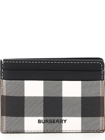 Burberry Kier Tartan E-canvas Card Holder