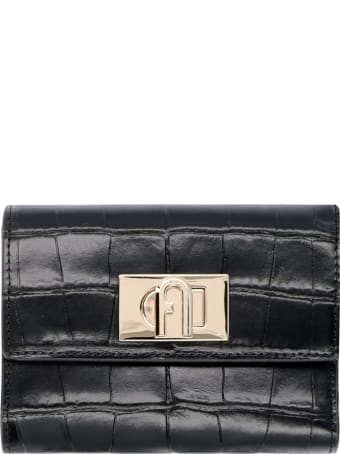 Furla Furla 1927 Croco-print Leather Wallet