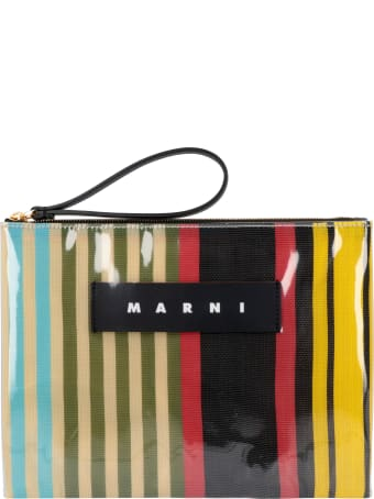 Marni Glossy Grip Tote Flat Pouch