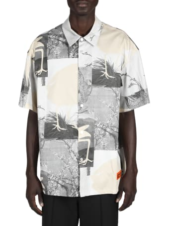 HERON PRESTON Hp Cut Out Bowling Shirt