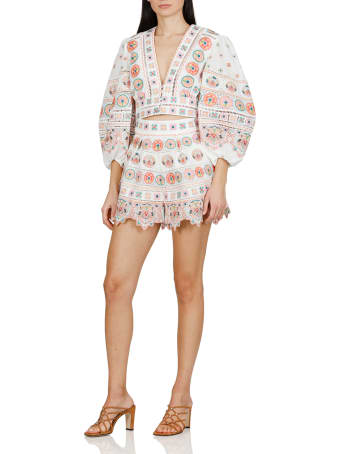 Zimmermann Brighton Shorts With Embroideries