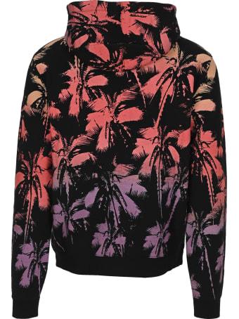 Saint Laurent Dip-dye Palm Trees Print Hoodie