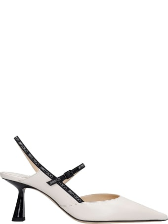 Jimmy Choo Ray 65 Pumps In White Leather