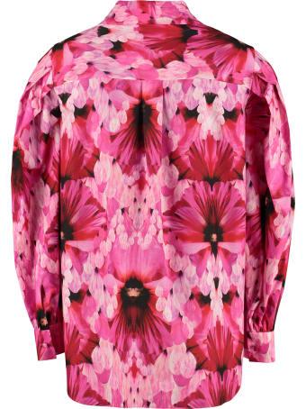 Alexander McQueen Floral Print Cotton Shirt