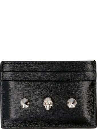 Alexander McQueen Logoed Leather Card Holder