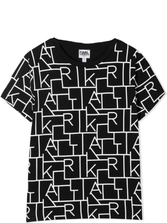 Karl Lagerfeld Kids Black T-shirt With Print