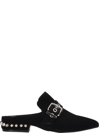 Jeffrey Campbell Black Suede Talega Flats Sandals