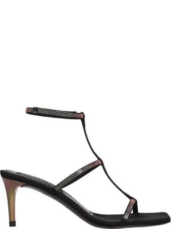 Pedro Garcia Ita Sandals In Black Leather
