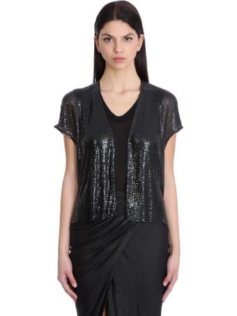 Rick Owens Lilies Vest In Black Synthetic Fibers