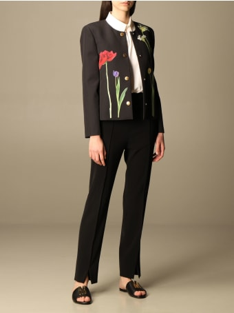 Boutique Moschino Blazer Moschino Boutique Jacket In Cady With Botanical Pattern