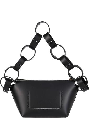 Frenzlauer Black Leather Shoulder Bag