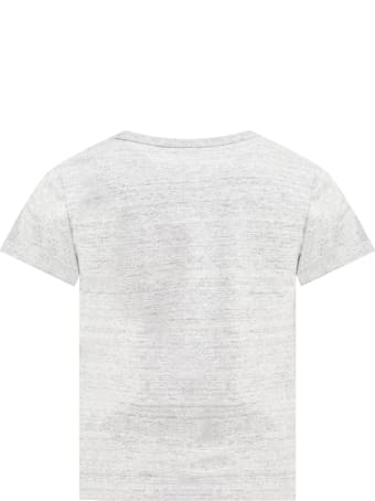 Little Marc Jacobs Gray T-shirt For Kids With Logo