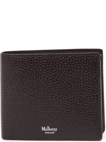 Mulberry Chocolate Grained Leather Wallet