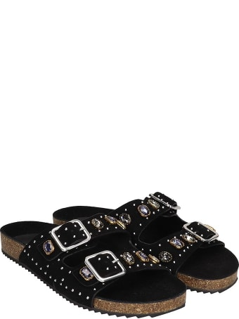 Bibi Lou Flats In Black Suede